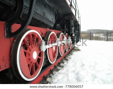 wheels of old locomotive #778006057