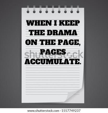 When i keep the drama on the page, pages accumulate.