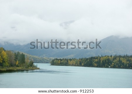 When the clouds are low and the rain comes in waves there is not a lot of time to shoot alaskan fall time - colors, mood,