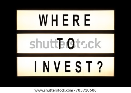 Where to invest hanging light box sign board. #785910688