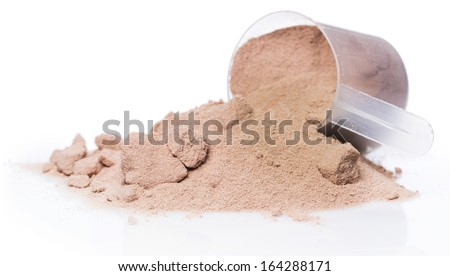 Whey protein powder and scoop #164288171