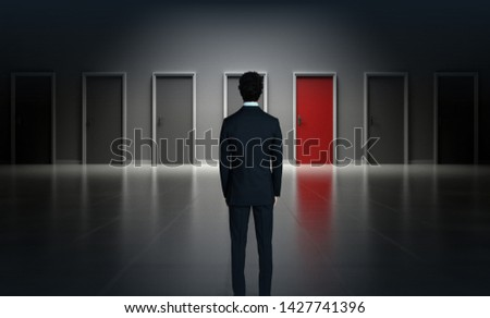 Which Door to Choose - Difficult Choices Concept - Temptation Concept 3D rendering 3D illustration