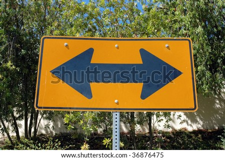 Which way sign