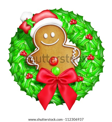Cute Gingerbread Cartoon Whimsical cartoon christmas