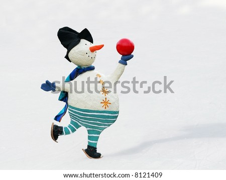 whimsical snowman skating