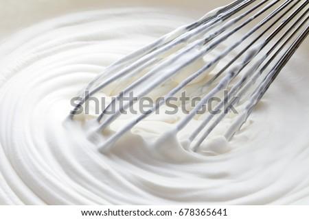 whipped cream and mixer ストックフォト ©