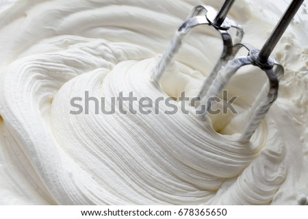 whipped cream and mixer