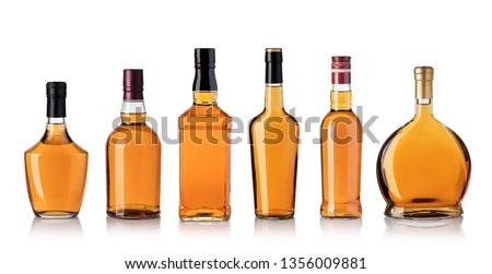 whiskey bottle isolated on white background #1356009881