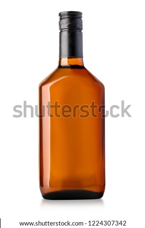 whiskey bottle isolated on white with clipping path #1224307342