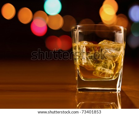 whiskey in a party background
