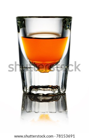 Whiskey in shot glass