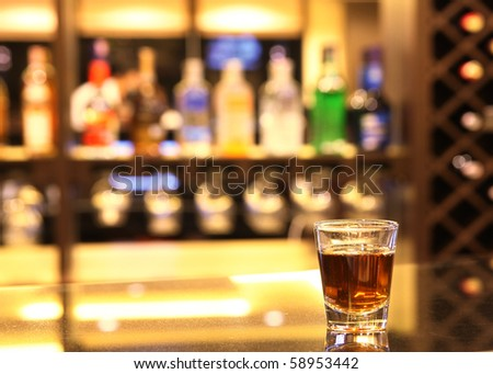 whiskey in the hot shot glass