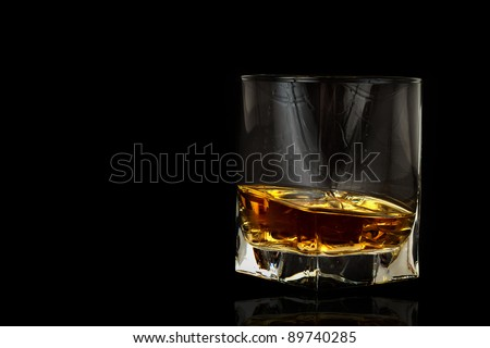 Whiskey on a black background