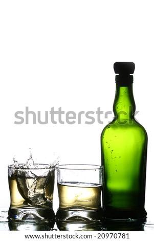 whiskey splash #20970781