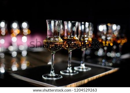 Whiskey tasting, whiskey glass #1204529263