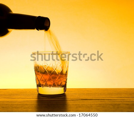 Whisky being poured into glass