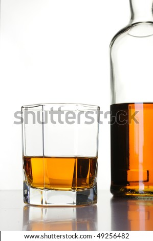 Whisky Bottle and Glass #49256482
