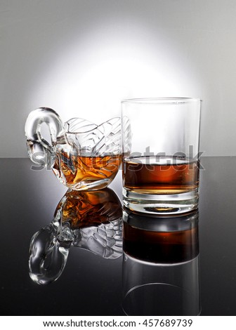 whisky in glass on white background #457689739