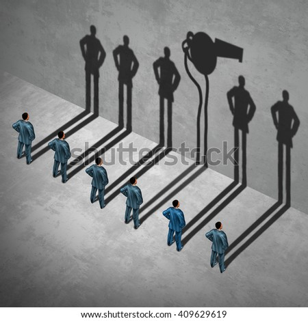 Whistle blower or whistleblower concept as a symbol of a secret informer agent posing as an employee with his cast shadow of a whistle as a metaphor for inside  info in a 3D illustration style. Stock photo ©