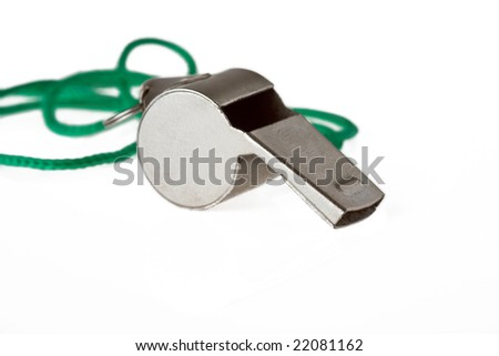 whistle isolated on white background - stock photo