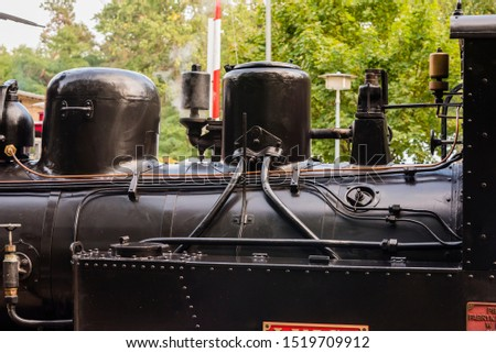 Whistle of a steam locomotive with white steam, Steam Locomotive, white steam #1519709912