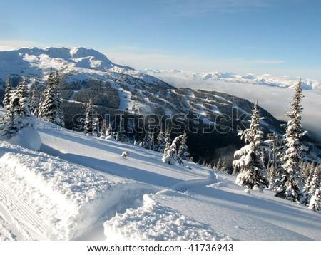 Whistler / Blackcomb Intrawest Ski Resort, Blackcomb Mountain - Whister, BC, Canada - stock photo