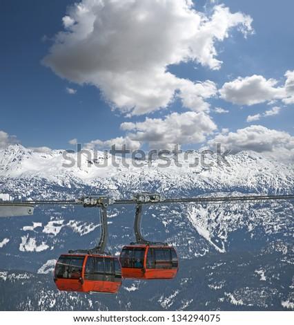 Whistler Gondola - Peak to Peak Gondola (Peak 2 Peak) with Coast Mountains