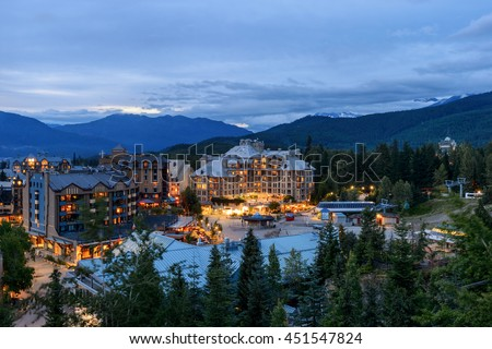 Whistler Village in Vancouver, British Columbia, Canada.