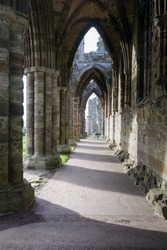 Whitby Abbey, ruins of a benedictine monastery associated with Dracula stories