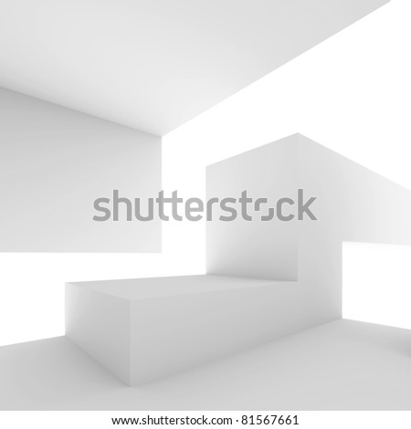 White Abstract Architectural Shape