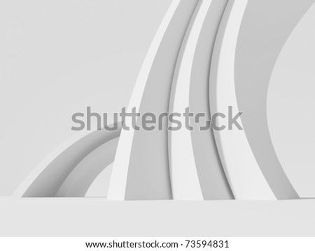 White Abstract Architecture Background