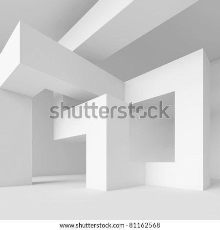 White Abstract Architecture Wallpaper