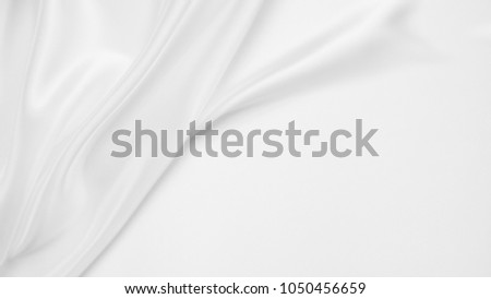 white abstract background luxury cloth or liquid wave or wavy folds of grunge silk texture satin velvet material or luxurious Christmas background or elegant wallpaper design, background #1050456659