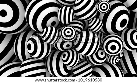 White abstract background with balls and black lines. 3d illustration, 3d rendering.