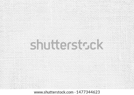 White abstract cotton towel mock up template fabric on with background. Wallpaper of artistic wale linen canvas. Blanket or Curtain of pattern and copy space for text decoration. Interior design wall.