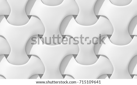 White abstract geometric pattern. Origami paper style. 3D rendering seamless texture.