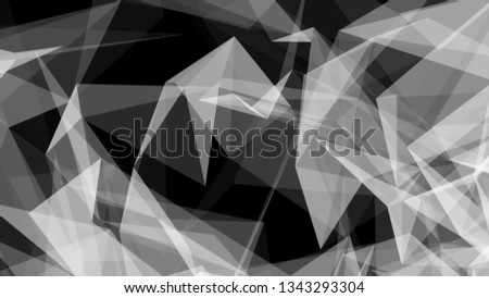 White Abstract Geometrical Low Polygonal Background Illustration. #1343293304