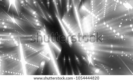 white and black abstract background holidays lights in motion blur image. illustration digital.