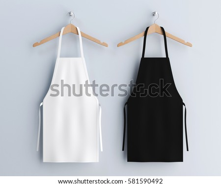 white and black aprons  apron...