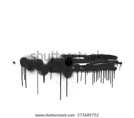 white and black spray paint shape