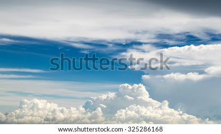 White and blue sky,Beautiful Blue Sky On a rainy day in thailand,The sky in the atmosphere, rain started to fall,sky,beautiful sky,big sky