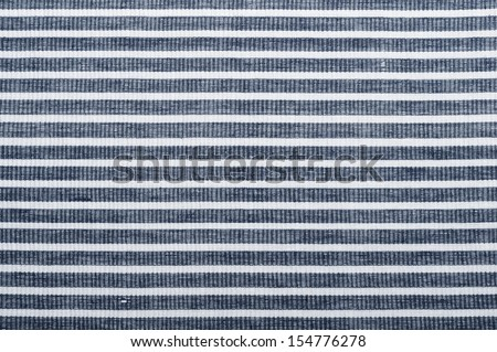 White and blue striped fabric texture with copy space #154776278
