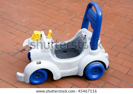 white and blue toys car