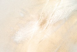 White And Gold Abstract Designer Element, Soft, Light and Bright Painted and Sprayed Texturised Background, Space For Copy