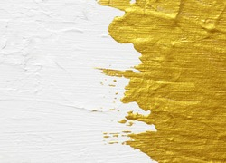 White and gold acrylic textured painting background