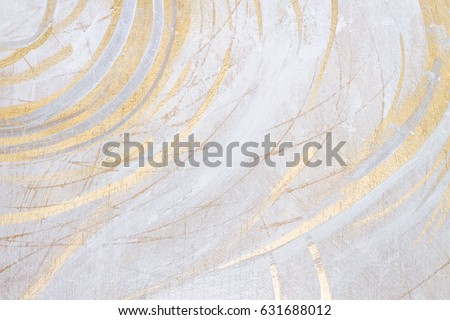 White And Gold Antique, Rustic Acrylic Colors, Brush Painted Texture, Background Texture, Space For Copy