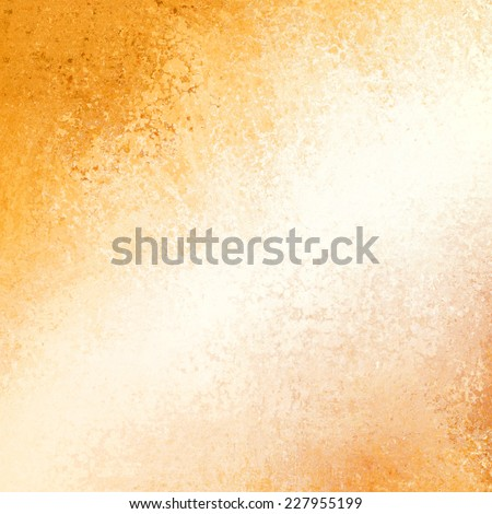 white and gold background with bright white center blur in diagonal stripe with dark gold corners. grunge distressed texture.