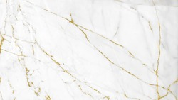 White and gold marble luxury wall texture with shine golden line pattern abstract background design for a cover book or wallpaper and banner website.