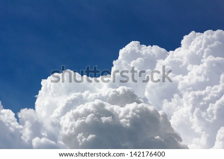 White and gray clouds in blue sky before rain