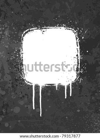 White and gray spray paint grunge background design